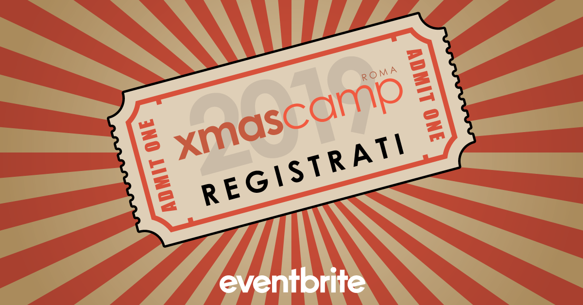 Roma XmasCamp 2019 - Eventbrite